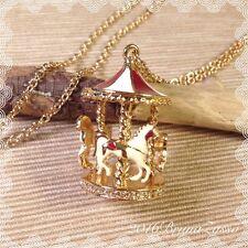 Collana Carosello Giostra Cute Carousel Merry-Go-Round Necklace Colore Oro