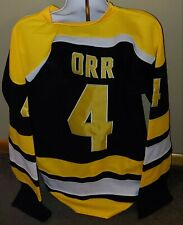 Black Boston Bruins #4 Bobby Orr Heros of Hockey Men's XL 52 Replica CCM jersey