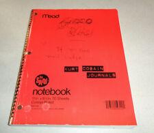~~Kurt Cobain Journals Riverhead Books New York 2002-2003~~