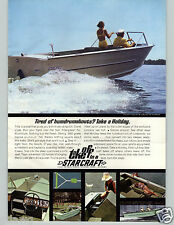 1967 PAPER AD 2 Sided Starcraft Motor Boat Holiday V Imperial Cruiser Runabout