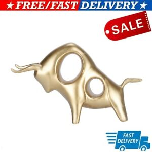 Ox Statue Unique Abstract Bull Sculpture Animal Craft Ornament For Office Home