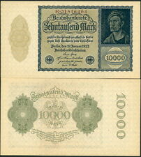 """NEAT OLD GERMANY P-72 10,000 MARK """"SMALL SIZE VAMPIRE NOTE"""" CIRCA 1922 - AU-UNC!"""