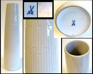 Top orig Porzellan Vase Schwerter Meißen DDR Design Hans Merz um 1960 >> SELTEN
