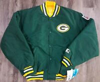 Vintage Starter Green Bay Packers NFL Football Satin Snap Jacket  Mens XL NWT!