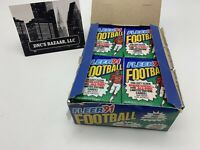 1991 Fleer Football Trading Cards Individually Sealed 36 Factory Packs Open Box