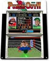 Punch Out Classic Boxing Arcade Marquee Game Room Wall Art Decor Metal Tin Sign