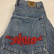 Vintage JNCO Jeans 30 Shorts Hammer Loop Embroidered Crown Skater Denim Rave