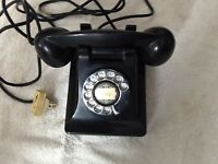 Vintage Black Western Electric Rotary Dial Bell System Telephone