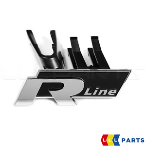 NEW GENUINE VW CC 12-16 CHROME FRONT GRILL R-LINE BADGE EMBLEM 3C8853948B FXC