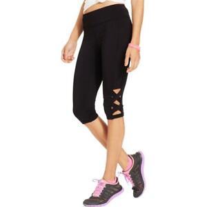 Material Girl Womens Black Running Yoga Athletic Leggings Juniors XXL BHFO 1492