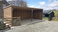 HAY BARN/CAR TRACTOR VEHICLE PORT STORAGE WOODEN BUILDING