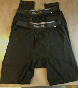 LOT 2 Omni Wool Thermal Base Layer Pants Size XL Black Next to Skin Comfort NWOB