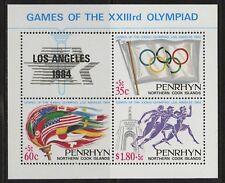 Penrhyn Islands   1984   Scott # 295    Mint Never Hinged Souvenir Sheet