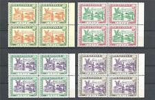 Guinea 1965 Sc# 372-75 set New York Exhibition pavilion of Guinea blocks 4 MNH