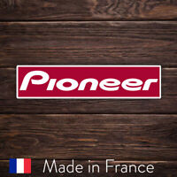 Autocollant Sticker Pioneer Logo Red Rouge, Laptop Mur Smartphone, 9cm LSP010