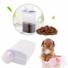 Stylish Pet Food Storage Barrel Container Dry Food Dispenser w/ Measuring Cup