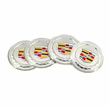 4 PCS 65mm Car Wheel Center Hub Caps Trim Stickers Emblem For Cadillac Silver
