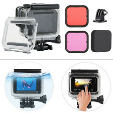 For GoPro Hero6 5 Black Underwater Waterproof Dive Housing+2x Lens Filter Kit