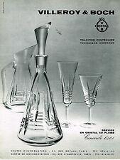 PUBLICITE ADVERTISING 034   1964   VILLEROY & BOCH  cristal  service CONCORDE 64