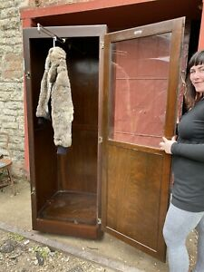 1900s Kregel Casket Co Clothing Rack Closet Dressing Room Tailor Cabinet Locker