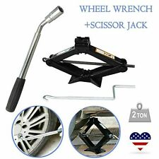 For Car Van Emergency 2ton Scissor Wind Up Jack Lift And Extendable Wheel Wrench Fits Ford