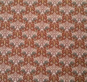 Mariposa by Laura Berringer Marcus BTY Butterfly Damask Brown Tan Teal
