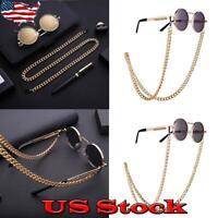 Women's Fashion Design Sunglasses +Chain Neck Strap Rope Vintage Gold Style US