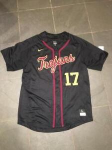 New RARE USC TROJANS #17 NIKE Baseball Jersey LARGE Sewn