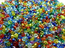 8/0 Rainbow Mix Miyuki Round Glass Seed Bead Mix 10 grams