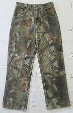"""Wrangler Boy's Jeans Camo Camouflage Realtree Hunting Size 14 Inseam 27"""""""