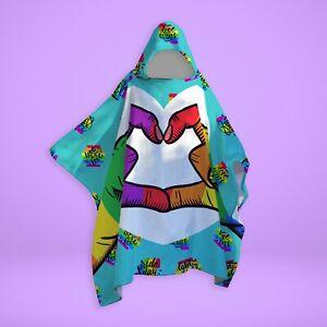 Pride Heart - SNUGAROO Hooded Fleece Poncho