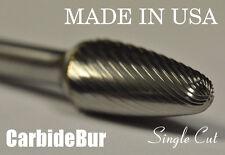 """New listing Brand New Usa Carbide Burr Sf-5 Single Cut 1/4"""" Tree Radius Deburring Tool Bit"""