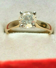 18ct Gold Natural 1.00ct Diamond Solitaire Col H SI1 Size L 1/2 US 6 Mint No Res