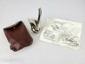 Ideal Pocket Seal With Seal and Leather Holder + instructions Stamp