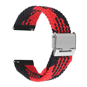 Braided Nylon Band Strap for Samsung Galaxy Watch 3 45/46mm Gear S3 Active2 44mm
