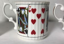 ELIZABETHAN ENGLAND PLAYING CARDS CUT for COFFEE Bone China DEMITASSE CUP only