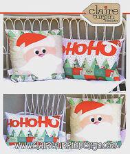 HoHoHo - Applique Sewing Craft PATTERN - Cushion Christmas Shabby Chic