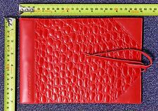Corban & Blair Leather Small Outback Dapper Photo album RED 20 sheets black
