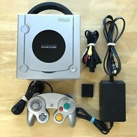 Nintendo Gamecube Platinum Console Bundle W/ OEM Controller Memory Card Tested