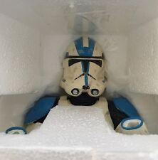 Star Wars Gentle Giant Statue Bust Blue Clone Trooper 501st - #4138 of 15000