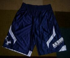 Rare UNDER ARMOUR Authentic AKRON ZIPS Blue BASKETBALL SHORTS L/Large jersey