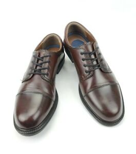DOCKERS Shoes Sz 10.5 W Brown Derby Oxfords Leather Mens 90-2219