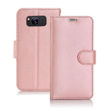 Rose Gold Leather Wallet Flip Cover Stand Case for SAMSUNG GALAXY S9