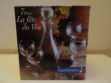 carafe à vin + 6 verres Luminarc