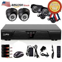 4CH Channel 960H CCTV DVR HDMI Motion Detection Security Cameras System 1080P HD