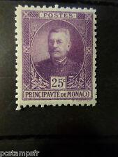 MONACO 1923/24, timbre 68, PRINCE LOUIS II, neuf**, MNH STAMP, CELEBRITY