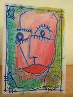 Art Contemporain Art Brut Art Singulier 4004 Oeuvre originale signée Jicé 19/16