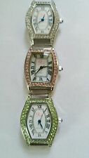 "Lot of 3  Watch faces -Brand name ""Pink""  Colors are green, pink and clear."