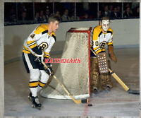 NHL Bobby Orr Gerry Cheevers Boston Bruins Game Action Color 8 X 10 Photo Pic