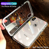 Double Sided Glass 360 Full Magnetic Case Cover for iPhone XS Max XR X 7 8 Plus